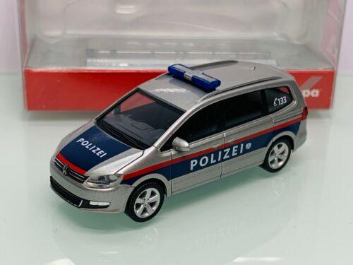 Herpa 049368 Polizei Österreich VW Sharan 2010 blau-silber in OVP 8703
