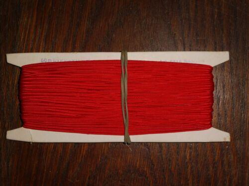0,3cm 50m auf der Pappe DDR OPEW Höhe ca rot Soutache//Litze 0,40€//m