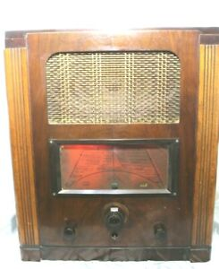 Vintage G.Marconi Valve Radio  Short Long Medium Wave Model 557 Gramophone input