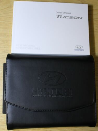 GENUINE HYUNDAI TUCSON 2015-2018 OWNERS MANUAL HANDBOOK AUDIO WALLET PACK !