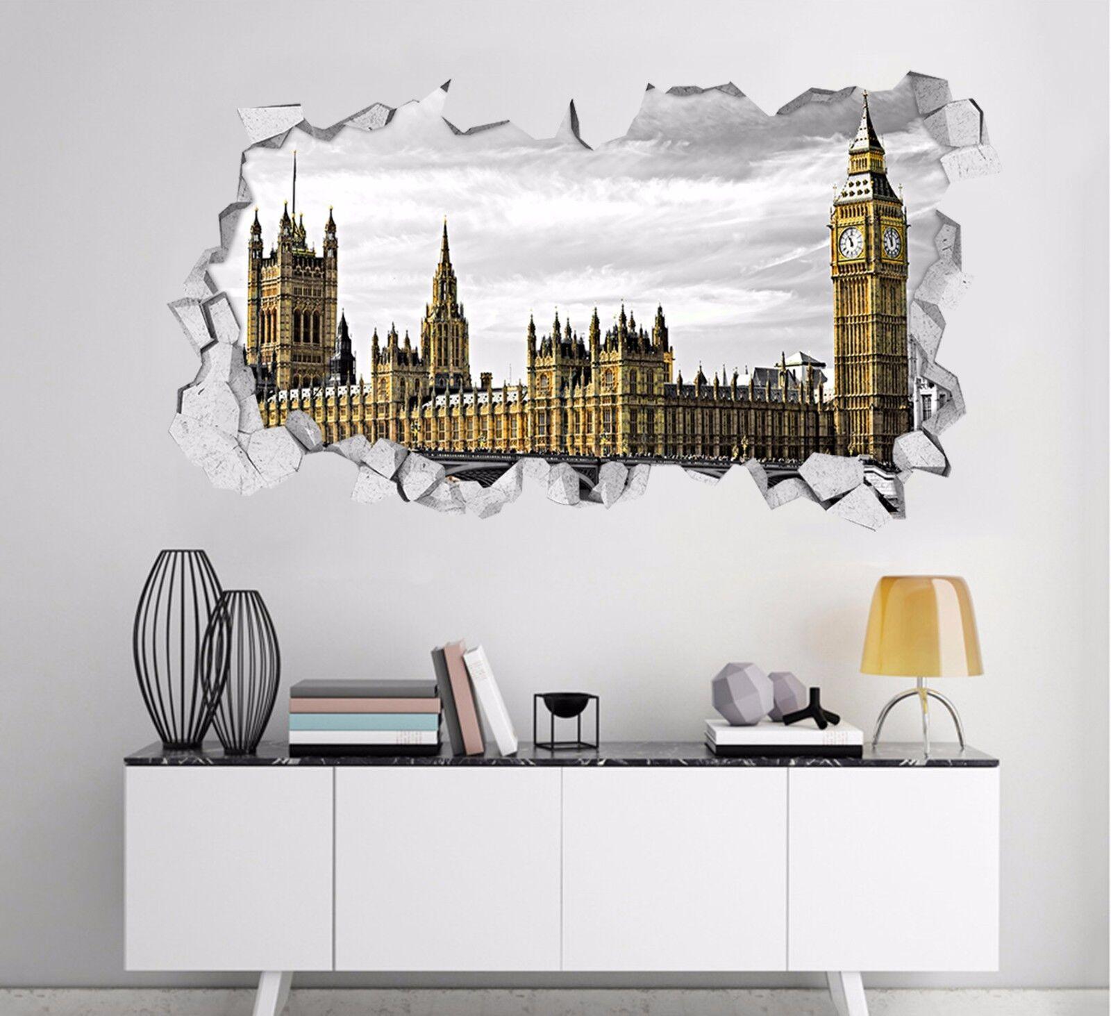 3D Bella Londra Parete Murales Parete Adesivi Decal Sfondamento AJ WALLPAPER IT