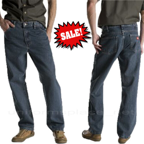Dickies Jeans Mens Relaxed Fit 5-Pocket Jean Cotton Denim Pants 13293 colors