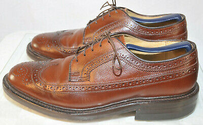 Austin Reed Regent Street Leather Wingtip Oxford Brogue Men S Size 7m Brown Usa Ebay