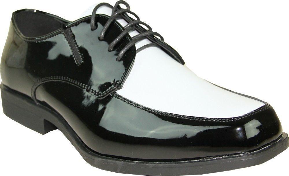 VANGELO TUX-7 Uomo Dress Shoe Two Tone Color Tuxedo Wrinkle Free Size 15W