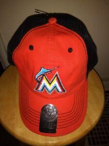 promo code f77df 46fb6 Image is loading Florida-Marlins-Hat-Flex-Mesh-Men-039-s-L-