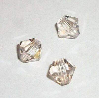 Capri Blue Preciosa 4mm Czech Crystal Diamond//Bicone Bead 144-Piece