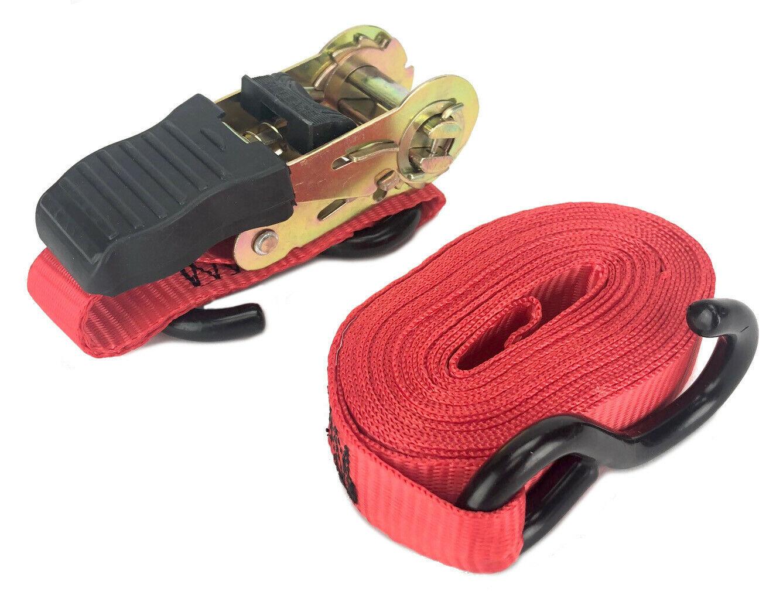 Set of 40 Ratchet Straps 1 x10'Rubber Coated S Hook Ratchet Quick Release Button