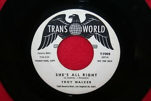 TROY-WALKER-She-039-s-All-Right-I-039-m-Gettin-Hip-45-RECORD-Northern-Soul-1961-HEAR