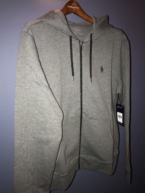 e1df23e65a25 Polo Ralph Lauren Double Knit Full Zip Fleece Hoodie Foster Grey 2xl ...