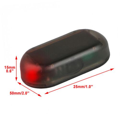 Solar Car Alarm Led Light Security System Warning Theft Flash Blinking US SHIP