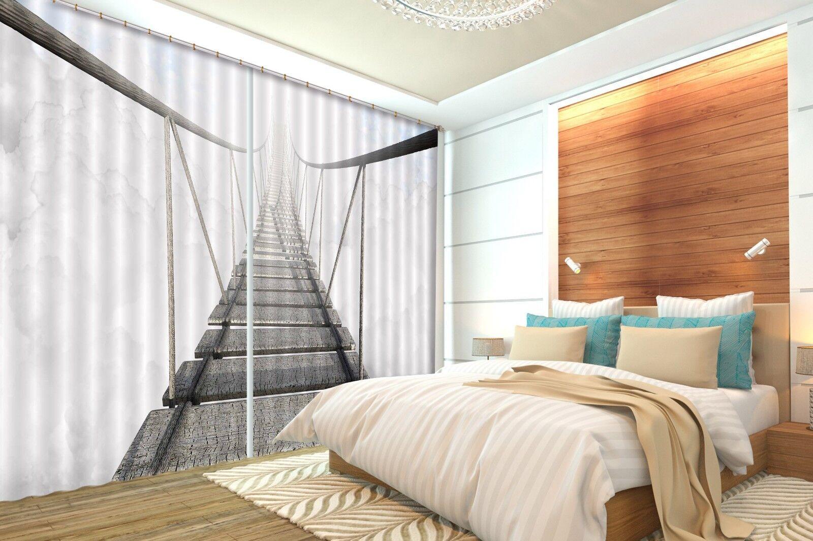 3d puentes pasarela bloqueo 9 cortina de fotografía presión cortinas cortina de tela de ventana