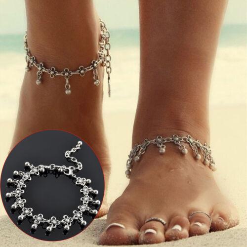 New 1pcs Women/'s Jewelry Silver Bead Chain Bracelet Barefoot Sandal Foot Anklet