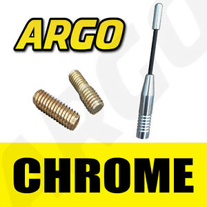 CHROME-ALLOY-ALUMINIUM-BLACK-BEE-STING-CAR-MINI-AERIAL-ANTENNA-MAST-ARIEL-ARIAL