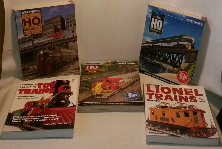 Lot 5 Books walther's HO & O'briens collecting toy trains & Lionel train F/SH