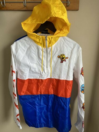 PAC-MAN Windbreaker Pull-Over Jacket Mens Size M