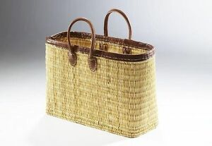 Einkaufstasche-aus-Seegras-stabile-Ausfuehrung-Band-und-Griffe-aus-Leder