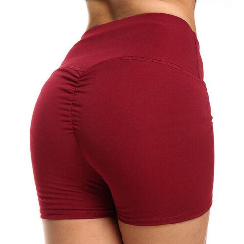 Womens Hot Pants Gym Yoga Shorts Dance Cycle Sport Fitness Stretch Mini Shorts