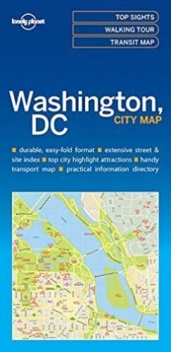 1 of 1 - Lonely Planet Washington DC City Map (Travel Guide), Very Good Condition Book, L