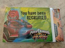 POWER RANGERS JUNGLE FURY INVITATIONS Cards Birthday Party Child Boys Kids NEW