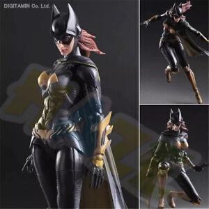 Play-Arts-Kai-Batman-Arkham-Knight-Batgirl-Action-Figur-Modell-25cm-Spielzeug