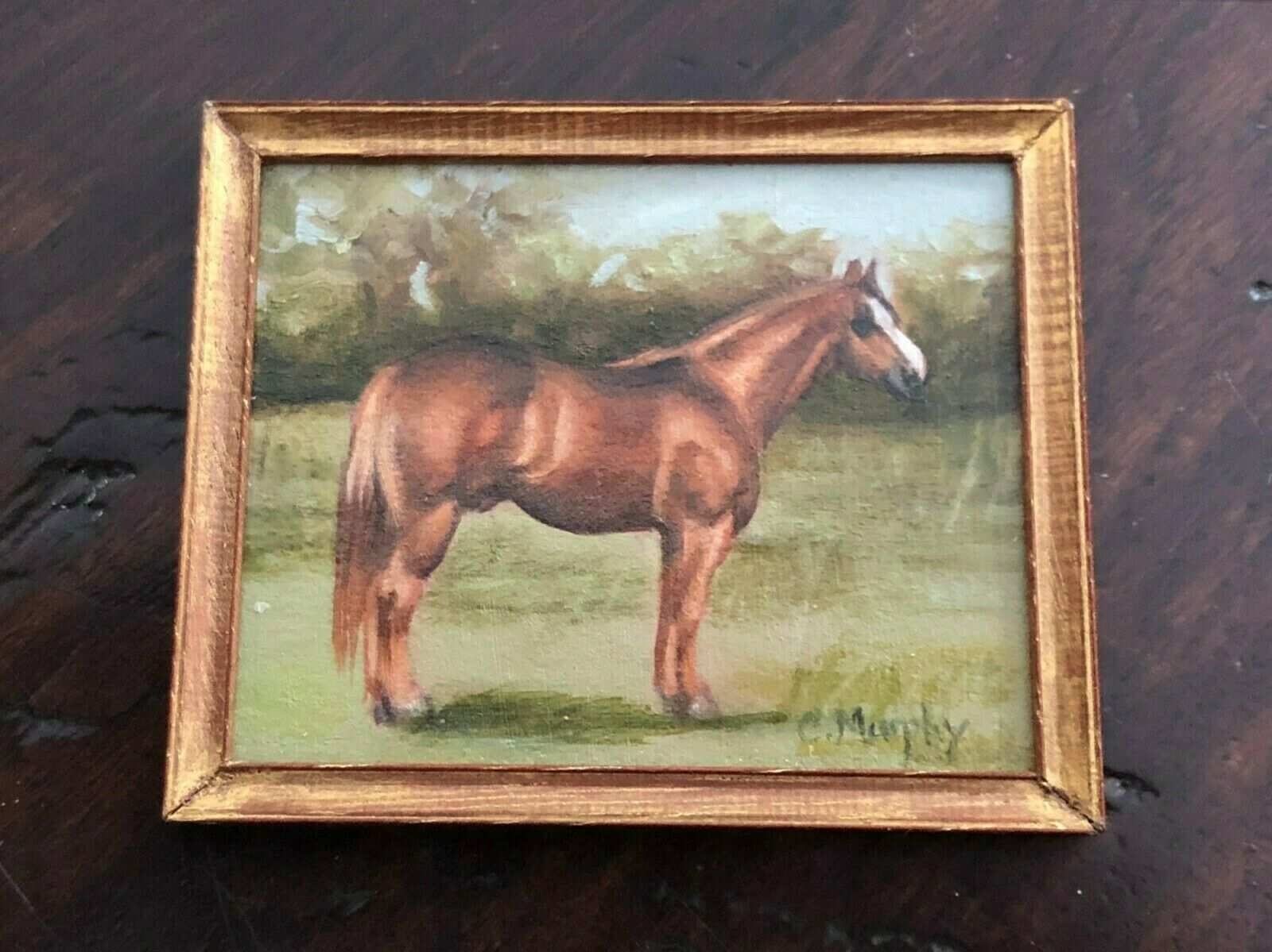 Artisan Horse Portrait Oil Painting 1 12th Scale