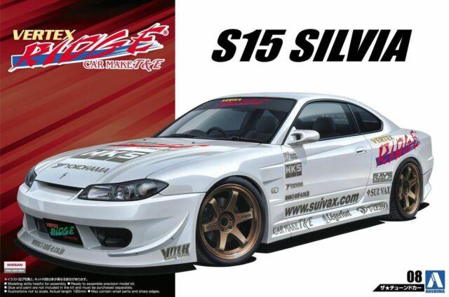 Aoshima 05214 1/24 Scale Model Car Kit Vertex Ridge T&E Nissan S15 Silvia