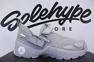 new styles 4dcaf ca269 Image is loading NIKE-AIR-JORDAN-TRUNNER-LX-WOLF-GREY-WHITE-