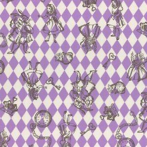 Sale Japanese Cotton Linen Fabric Lecien Alice In Wonderland 4 Frame Panel