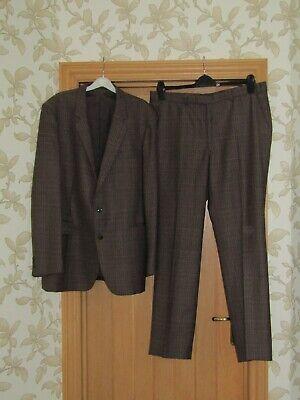 """Fiducioso Boss Finlandia Pesi Massimi Di Qualità Vintage Marrone Check Suit 44"""" 39x31.5"""" Exc Cond-mostra Il Titolo Originale Modellazione Duratura"""