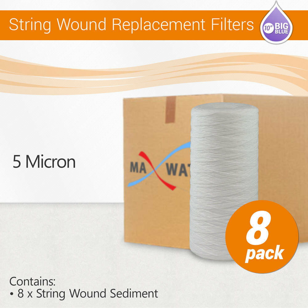10 x4.5  String Wound Sediment Whole House Water Filter,Hard Well WVO Biodiesel
