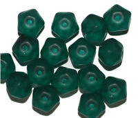 Matte Teal Facet Czech Pressed Glass Beads 10mm (pack Of 16)