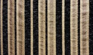 Chenille-Black-Stripe-Upholstery-Drapery-fabric-by-the-yard-57-034-Wide