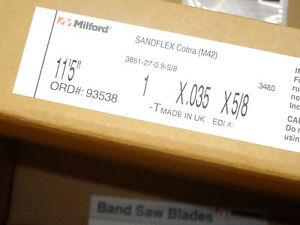 """x 3//4/"""" x .035/"""" x 4H Band Saw Blade M42 Bi-metal 1 Pcs 107/"""" 8/'-11/"""""""