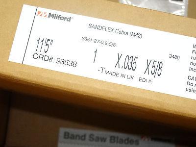 "11/'-7/"" 139/"" x 3//4/"" x .035/"" x 8//12N Band Saw Blade M42 Bi-metal 1 Pcs"