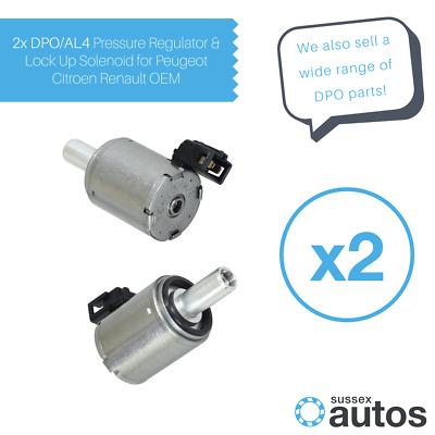 Peugeot 207 Automatic DPO//AL4 Gearbox Pressure Regulator /& Lock Up Solenoid X 2