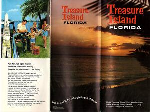 Map Of Treasure Island Florida.Treasure Island Florida Vintage Travel Brochure Color Photos Map Ebay