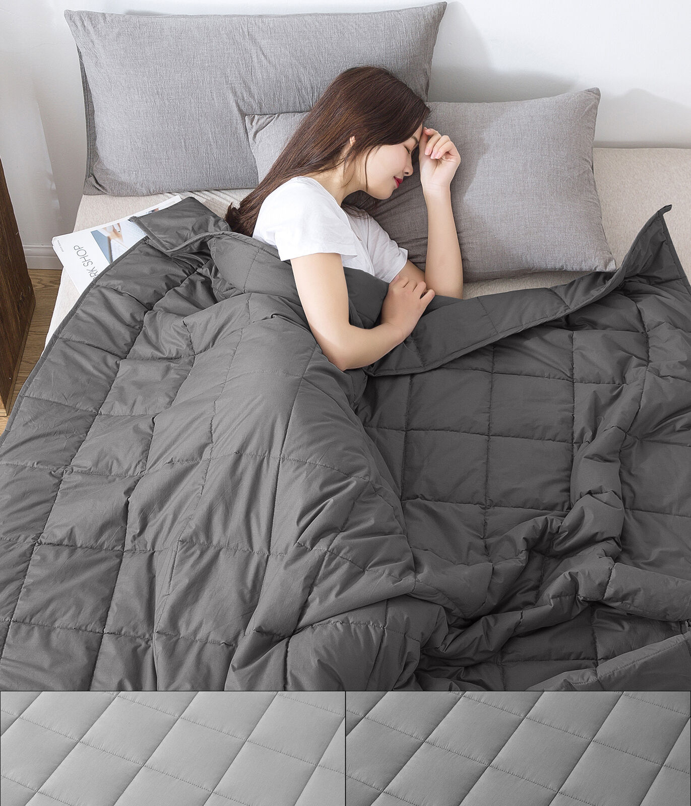 Stress rotucing Weighted Blanket 12lbs, 15lbs, 20lbs Twin, Full Queen