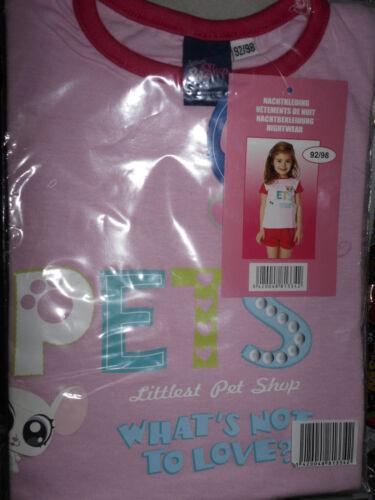 92//98 NOUVEAU rose//motif OVP courte LITTLEST pet shop fille pyjama