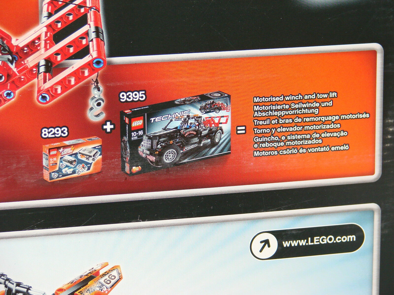 LEGO® Technic 66433 Super Pack 3 in1 NEU NEU NEU OVP_Motoristed Winch (9395+9392+8293) 2ad05f