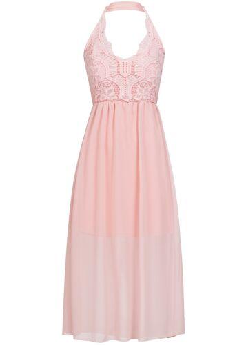 37/% OFF B17036149 Damen Violet Kleid Neckholder Häkeleinsatz Brustpolster rosa