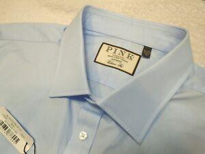 Thomas-Pink-100-Fine-Cotton-French-Cuff-Blue-Dress-Shirt-NWT-18-5-x-37-38-185