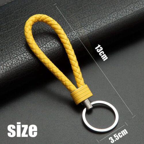 1PC Braided Faux Leather Strap Keyring Keychain Car Key Chain Ring Key Fob