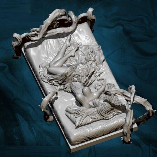 1//24 Resin Figure Model Kit Beauty Sleeping woman soldier unpainted unassembled