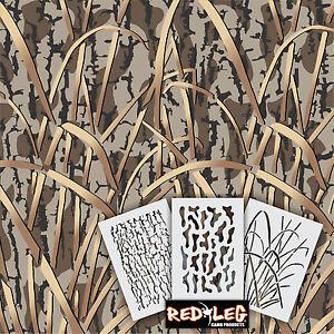 Image Is Loading Redleg Camo Dg9 3 Piece Camouflage Stencil Kit