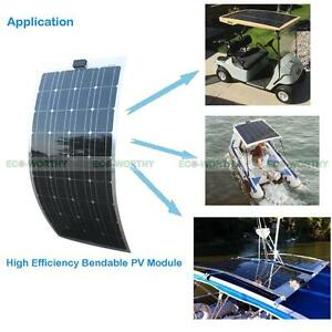 40W-50W-100W-Semi-flexible-Solarmodule-Solarpanel-for-RV-Home-Battery-Charger