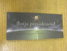 20/10/2010 Ticket: Barcelona v FC Kobenhavn [UEFA Champions League] Presidential