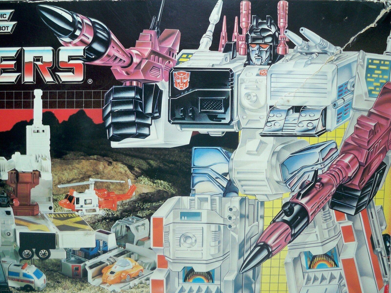 D1500941 Metroplex Suelto C   Caja G1 Transformers 1985 Vintage 100% Completo