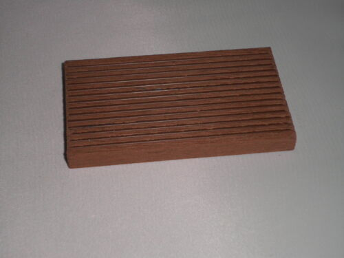 Sample of Skirting for Decking Wood Plastic Composite 55mm x 10mm Red Brown