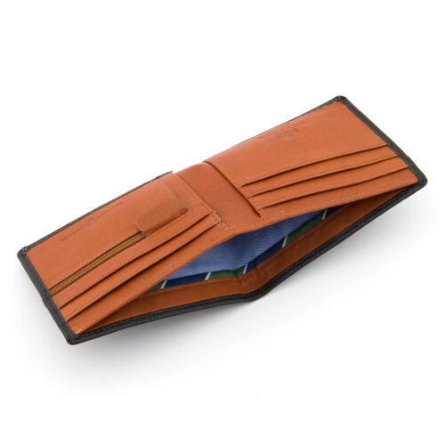 Le Wilmore deux fois en cuir gryphen Portefeuille-Noir//Tan-RRP £ 20