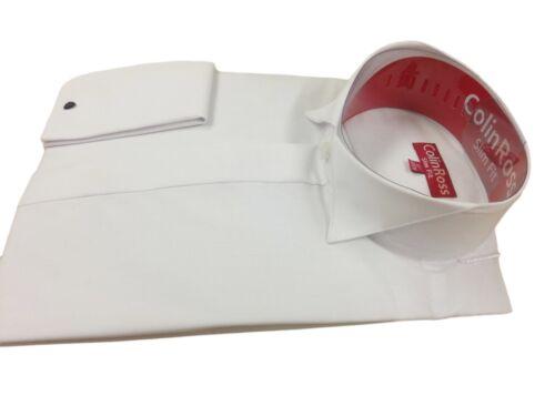X//L SLEEVE Downton Abbey  White Edwardian Wing Collar  Dress Shirt 14.5-19.5 NWT